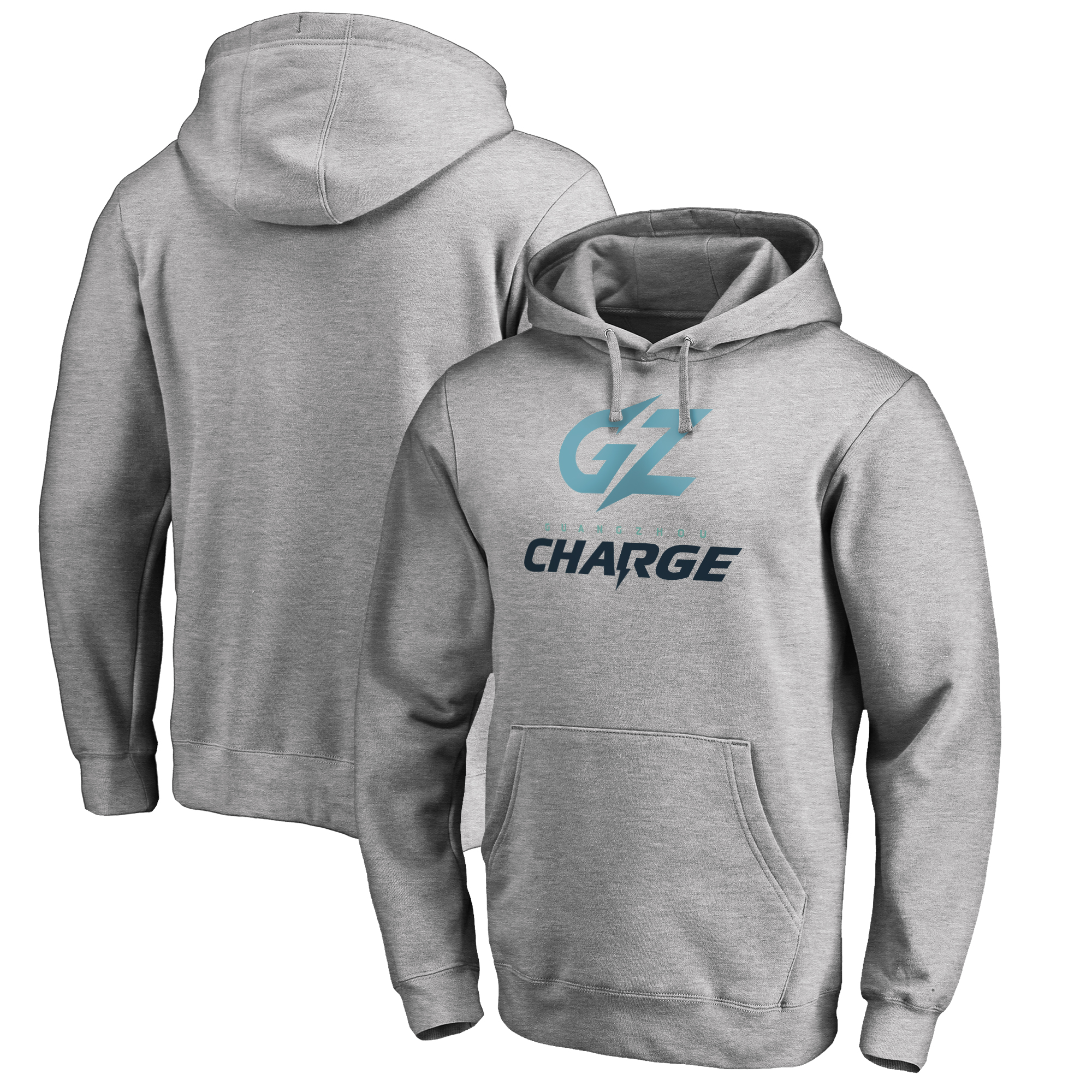 Guangzhou Charge Fanatics Branded Team Identity Pullover Hoodie - Heather Gray