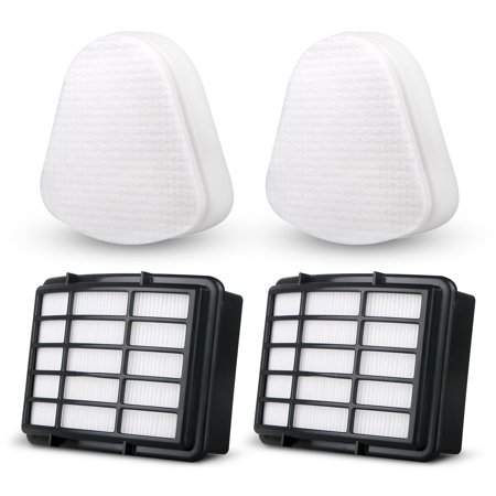 TSV 2 Packs Filter Kits For Shark Navigator Lift-Away (NV352 NV355 NV356E NV350 NV351 ) ,Replacement Vacuum Cleaner Filter Set 2 Foam Flet Filter Kit +2 HEPA Filters, Part#XFF350 XHF350 ()