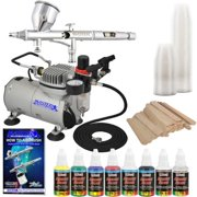 Pro FINE DETAIL Dual-Action AIRBRUSH SYSTEM w/ PAINT KIT Air Compressor