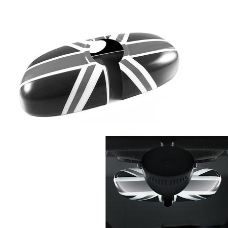 Xotic Tech 1 Piece Black Grey Union Jack UK Flag Rear View Mirror Cover For 2007-2014 MINI Cooper R55 R56 R57 etc Standard Mirror w/o Auto Dim nor Garage Opener (Wo Kaufen Sonnenbrille Uk)