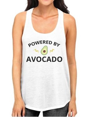 f2ea66853cf30 Product Image Powered By Avocado Women White Tank Top Gift For For Avocado  Lovers. 365 Printing