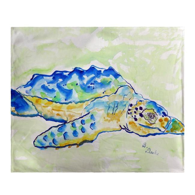 Betsy Drake BK661 Loggerhead Turtle Fleece Throw