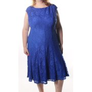 Lauren Ralph Lauren NEW Island Blue Women's Size 22W Plus Shift Lace Dress