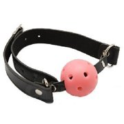 Ball Gag Mouth Restraint SM Role Play Fetish Bondage Oral Toy Submissive Pink (Pink)