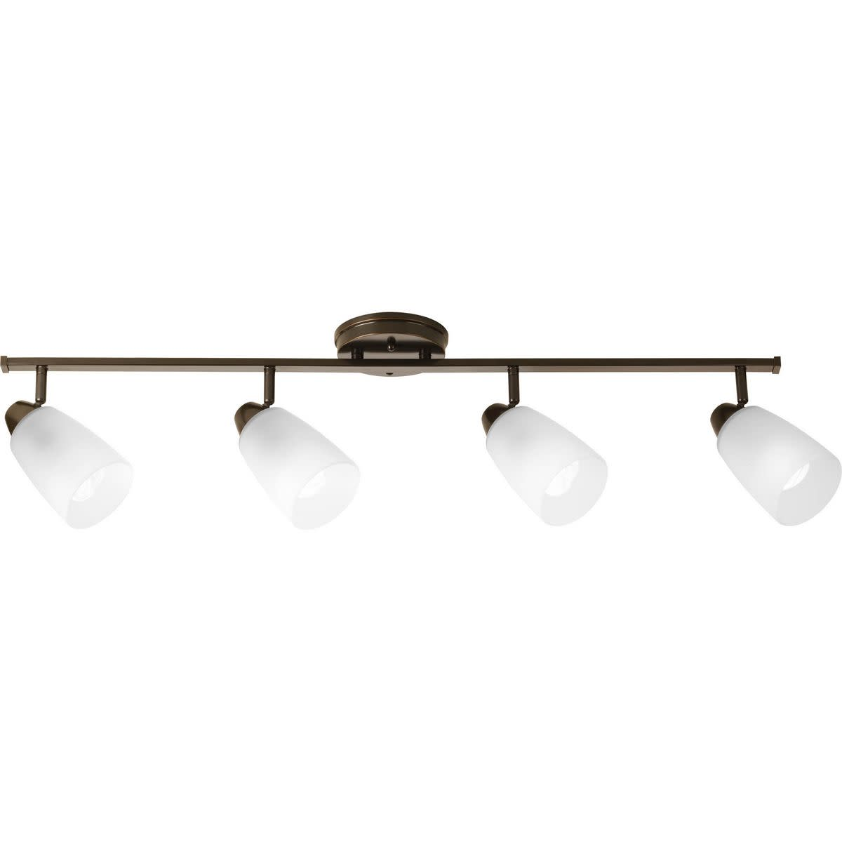 Progress lighting p3362 wisten 40 four light track style semi flush mount ceiling fixtures