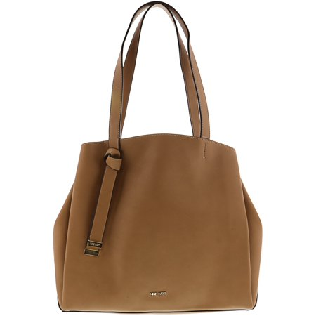 Nine West Women S A Tote Leather Shoulder Bag Dark Wheat Platino Brown