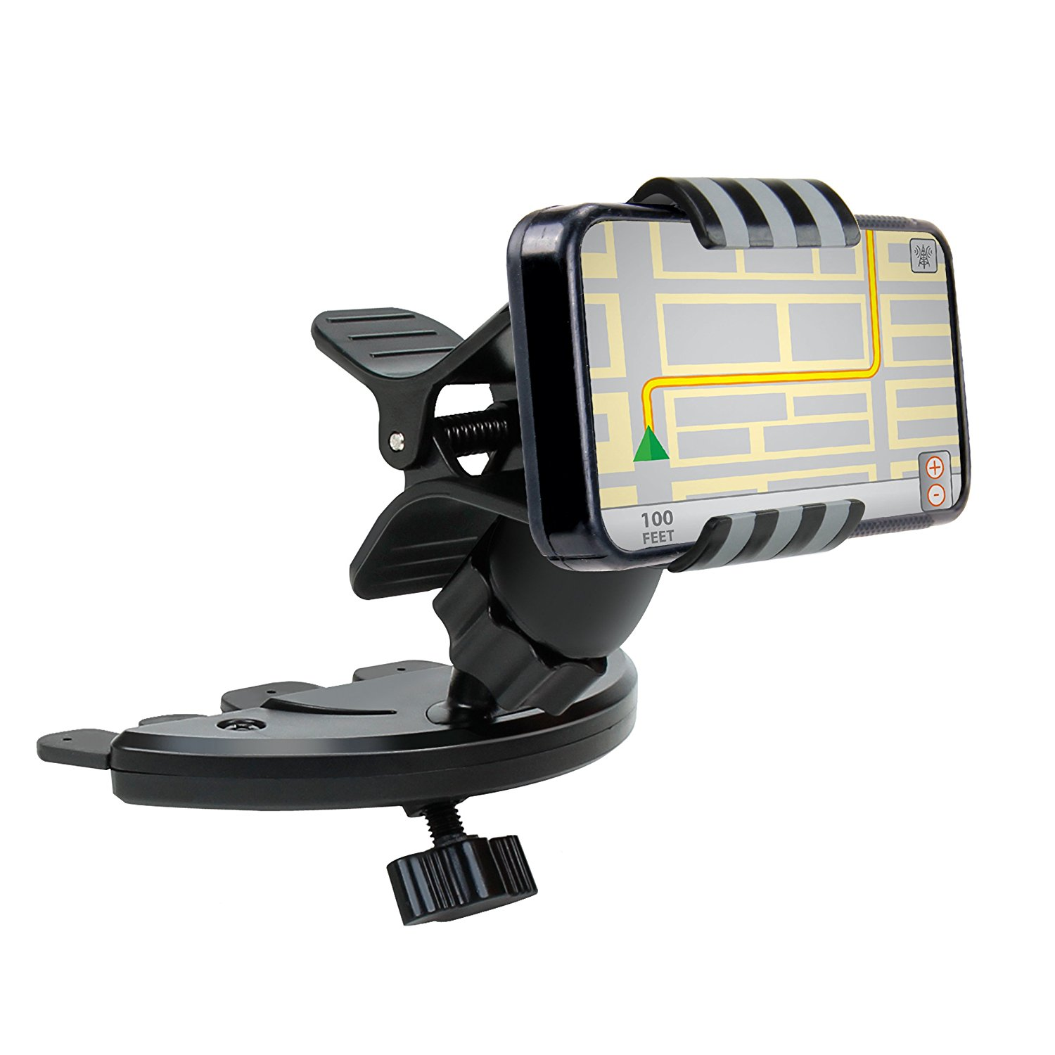 USA Gear Universal CD Slot Car Mount Holder with Rotating...