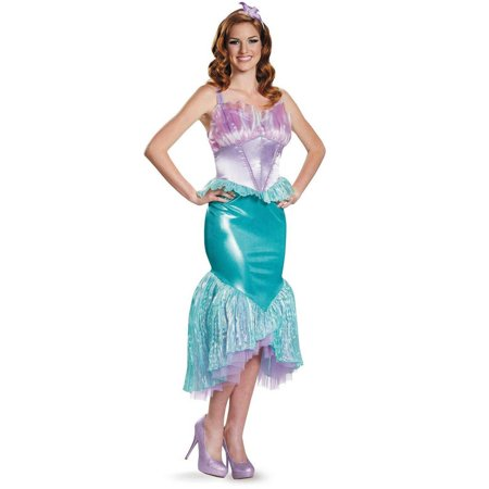 Disney Princess Deluxe Ariel Women's Plus Size Adult Halloween Costume, XL](Plus Size Princess Costumes)