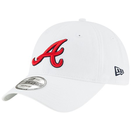 Atlanta Braves New Era Core 49FORTY Fitted Hat - White (Atlanta Hawks Fitted Cap)