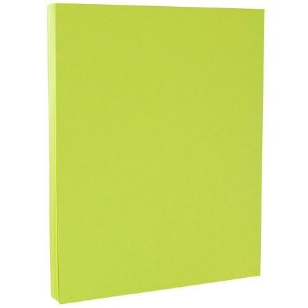 JAM Paper Bright Colored Cardstock, 8.5 x 11, 65 lb Brite Hue Ultra Lime Green, 50 Sheets/Pack ()
