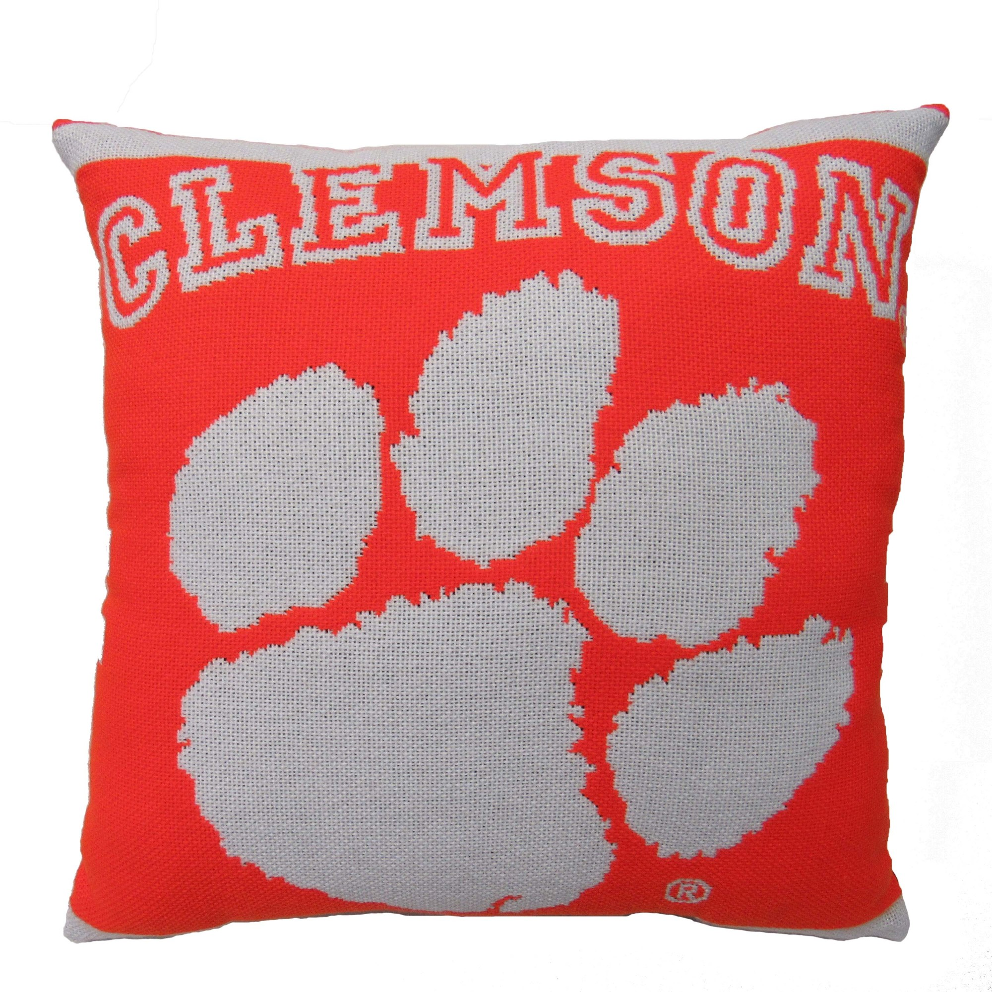 "NCAA Clemson University 20"" Square Decorative Woven Pillow by The Northwest Company"
