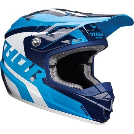 Thor Sector Richochet Youth MX Offroad Helmet Blue/White