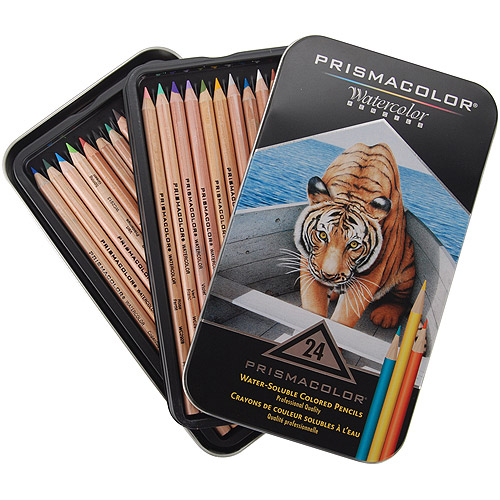 Prismacolor Watercolor Pencils Assorted Colors 24 Pack Walmart Com