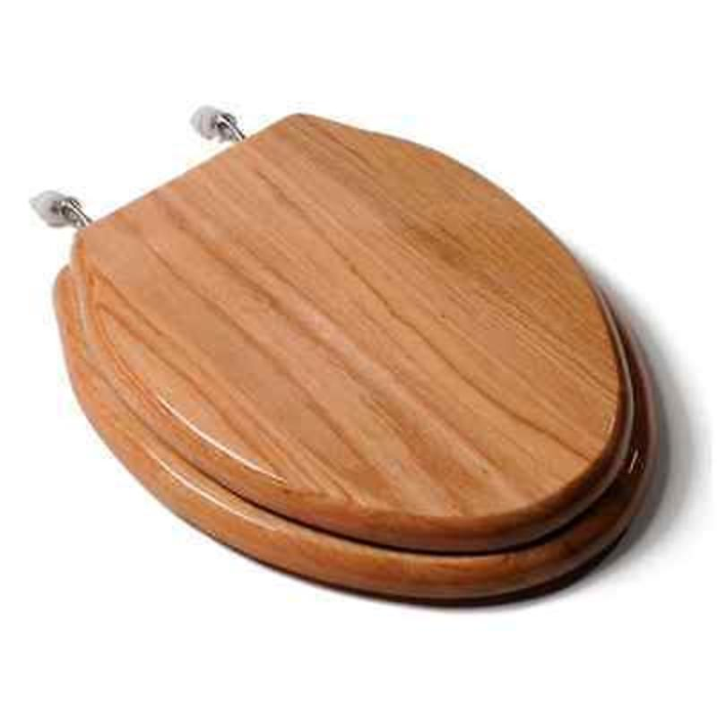 Elongated Designer Wood Toilet Seat Closed Front With Cover Comfort Seats