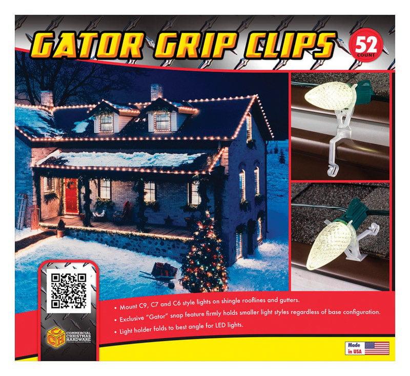 Commercial Christmas Hardware 2411161402 Gator Grip Holiday Light Clips, 52-Ct. by COMMERCIAL CHRISTMAS HARDWARE