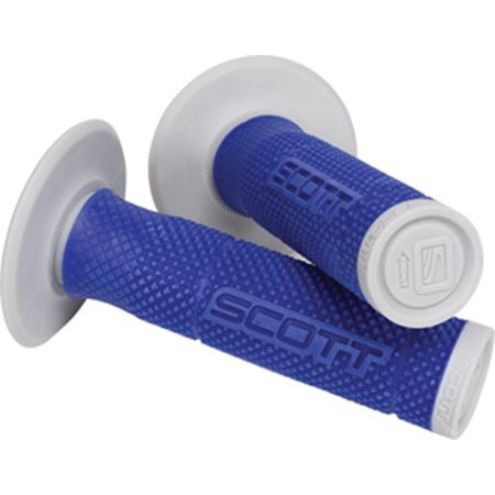 219624 1024 Blue Silver Sx Ii Motorcycle Grips  The Sx Ll Grip Is A Dual Density Grip With A Soft Density Diamond Pattern Surrounding A Firm Density    By Scott Sports