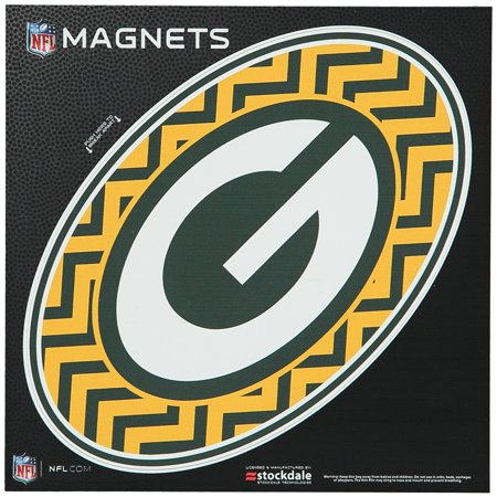 "Green Bay Packers Chevron 6"" x 6"" Oval Full Color Magnet - No Size"