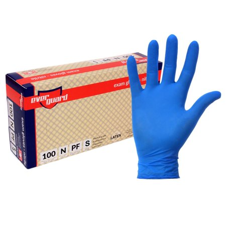 EverGuard Nitrile Exam Gloves, Non Latex, Powder Free (Small)