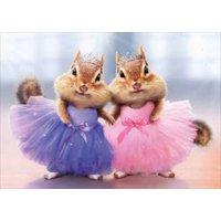 Avanti Press Chipmunk Ballerina Duo Funny / Humorous Thank You Card