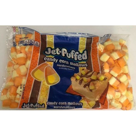 Candy Corn Marshmallows KRAFT 8 oz Bag JET-PUFFED Fat Free 100 calorie Halloween