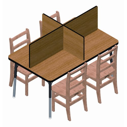 Jonti-Craft Laminate Study Carrel 4 Panel Desk Privacy Panel 14''H x 47''W by Jonti-Craft