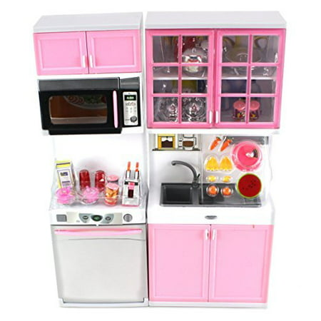 Modern Kitchen 16' Battery Operated Toy Kitchen Playset, Perfect for Use with 11-12