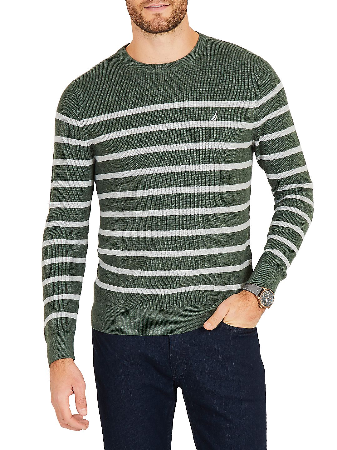 Breton Navtech Striped Crewneck Sweater
