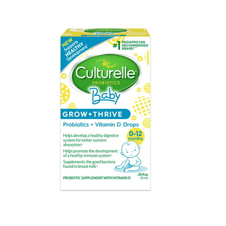- Culturelle Baby Grow + Thrive Probiotic and Vitamin D Drops