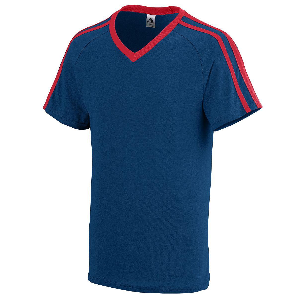 Augusta Sportswear Men's Get Rowdy Shoulder Stripe Tee 2Xl Navy/Red - image 1 of 1