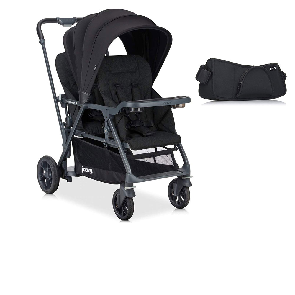 Joovy Folding Sit and Stand Double Stroller w  Parent Organizer by Joovy