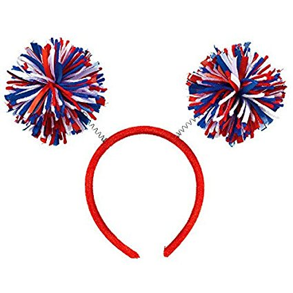 All-American 4th of July Mini Pom Pom Headbopper Accessory, Fabric, 9