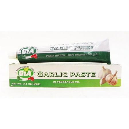 GIA Garlic Paste in Vegetable Oil 3.1 oz (Pack of