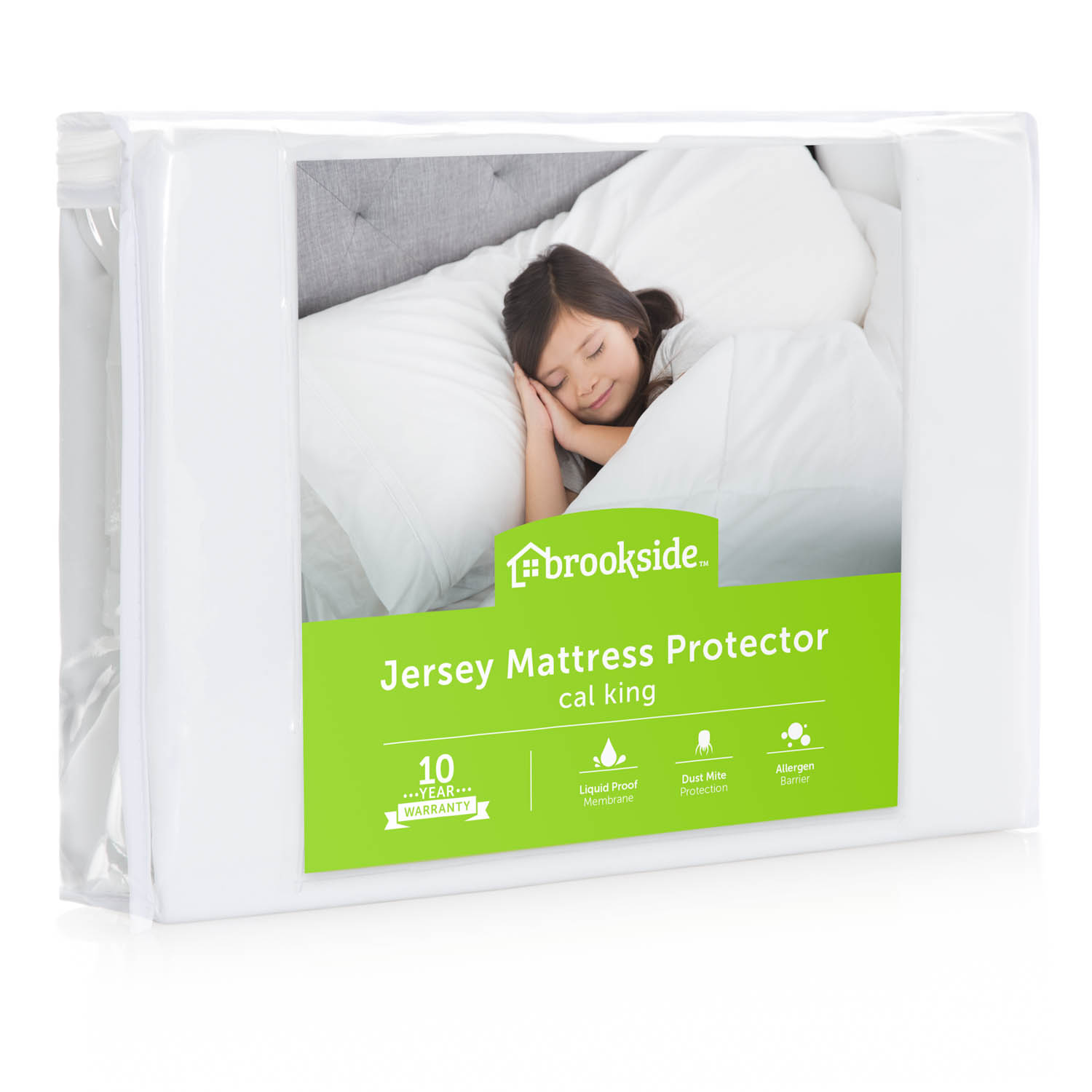 Brookside Waterproof Jersey Fitted Mattress Protector by CVB Inc.