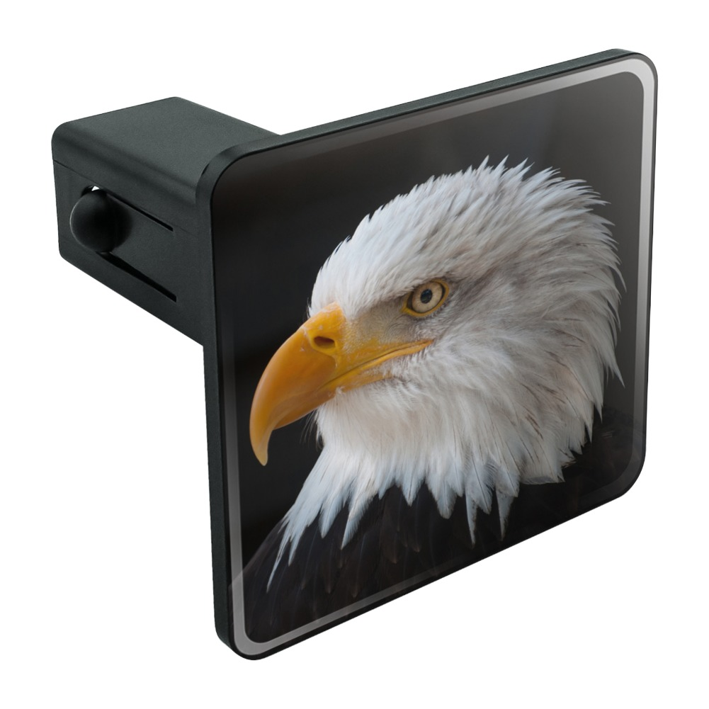 """Stoic Bald Eagle Tow Trailer Hitch Cover Plug Insert 1 1/4 inch (1.25"""")"""