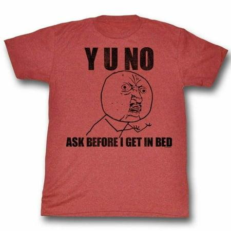 Y U No Memes Unfunny Adult Short Sleeve T Shirt (Halloween Zumba Meme)