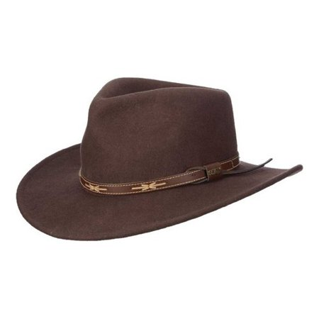 fcc3a959 scala - scala classico men's wool felt outback hat chocolate l - Walmart.com