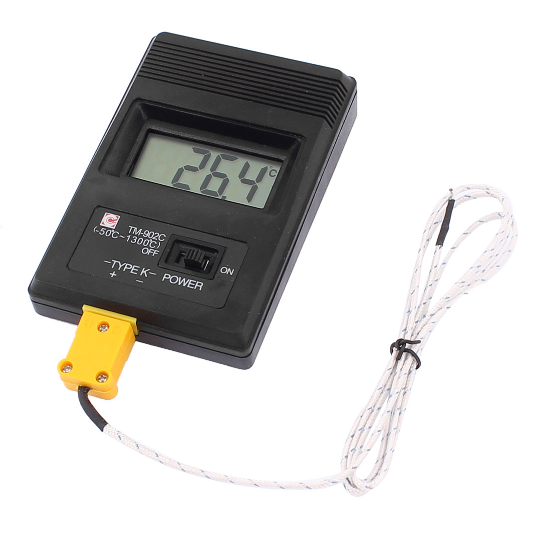 Unique Bargains LCD K-Type Digital Thermometer Measure TM-902C w 2 Thermocouple Probe