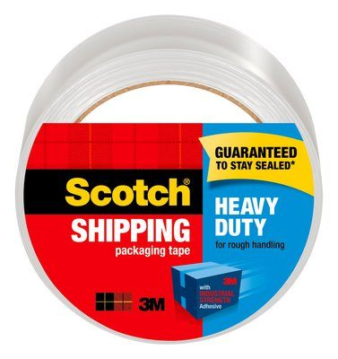 Scotch Heavy Duty Shipping Packaging Tape 8 Pack, 1.88 in x 54.6 yd (48 mm x 50 m), Clear, 8 Rolls per Case
