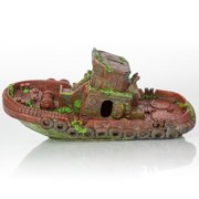"BioBubble Decorative Sunken Tugboat, 12.5"" x 4.25"" x 2.75"""
