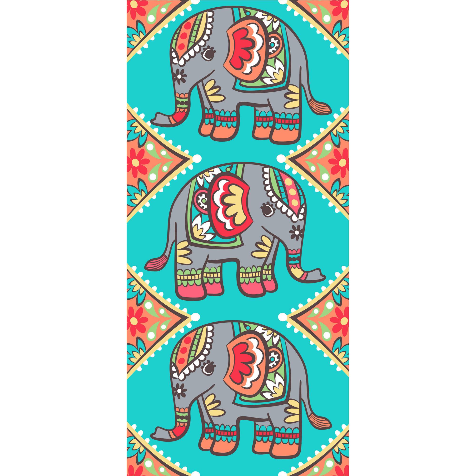 Mainstays 28x60 Ms Wood Stamp Elephants Fr Beach - Walmart.com