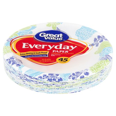 Great Value Everyday Paper Lunch Plates, 8 5/8