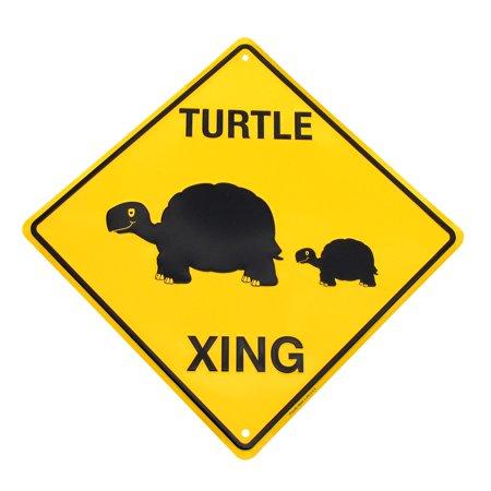 - Caution Slow Turtle Crossing Funny Tin Metal Hwy Sign Yard Garden Decor Lawn Art