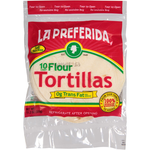 La Preferida Soft Taco Size Flour Tortillas, 11.2 oz, (Pack of 20)