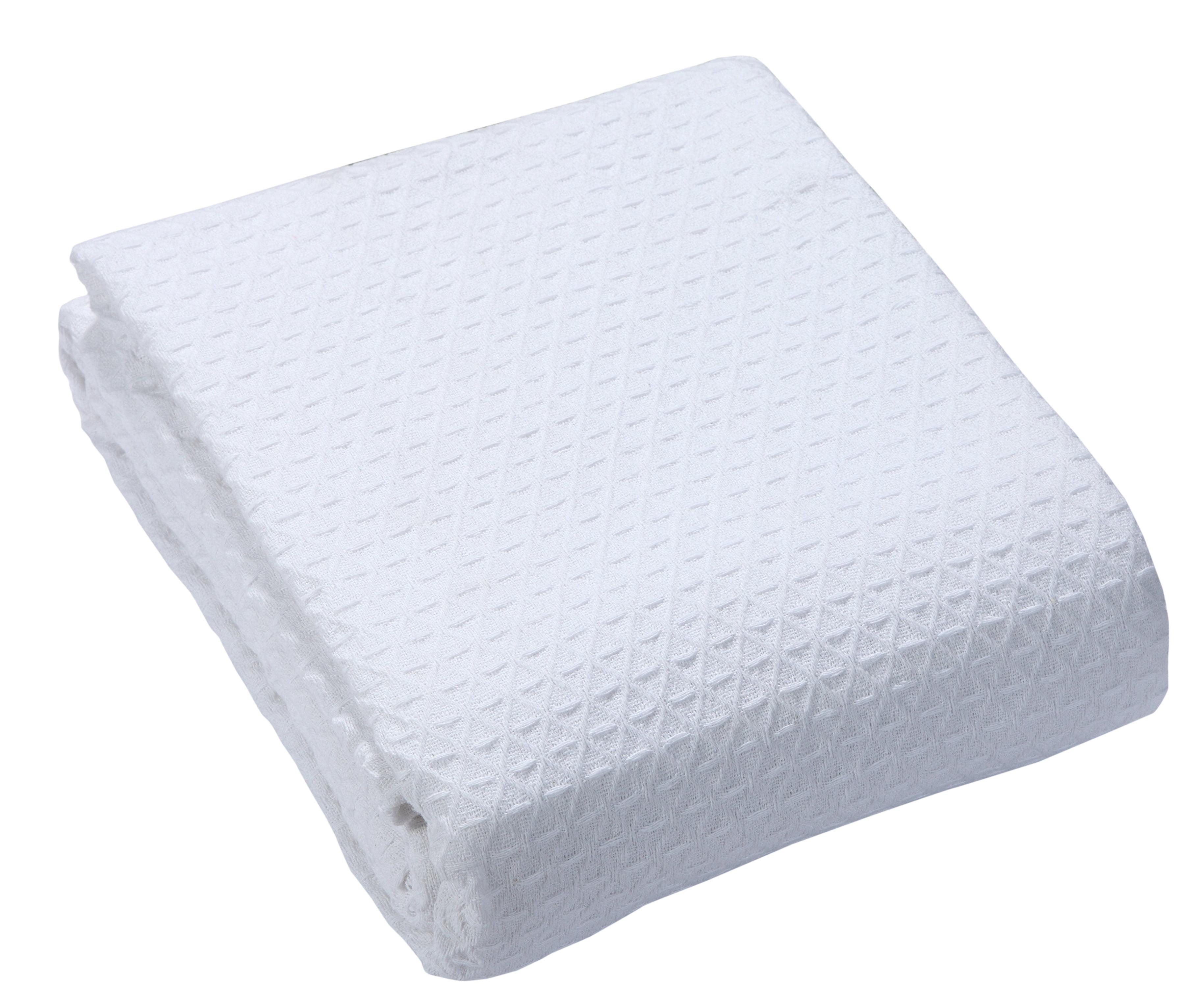 Classic All Seasons Super Soft Medium Weight Cotton Blanket by Intradeglobal LLC