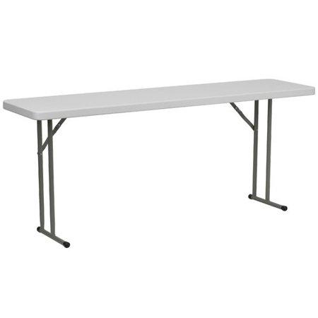 Image of Flash Furniture 72'' Rectangular Folding Table