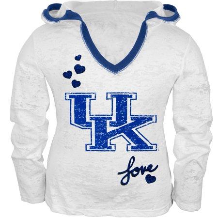 - Kentucky Wildcats - Girls Juvy Burnout Hooded Long Sleeve T-Shirt