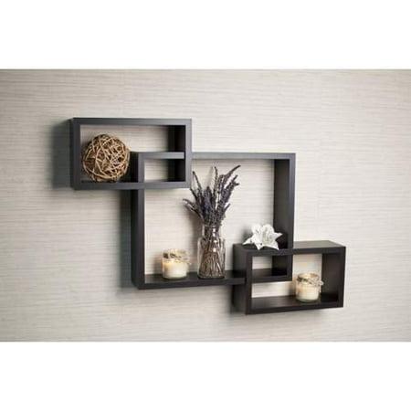 Danya B Yu008 Wall Decor Home Decor Shelves Dark Wood