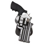"FOBUS ROTO PADDLE HOLSTER UP TO 4"" BARREL S&W L/K FRAME REVOLVER PLASTIC BLACK"