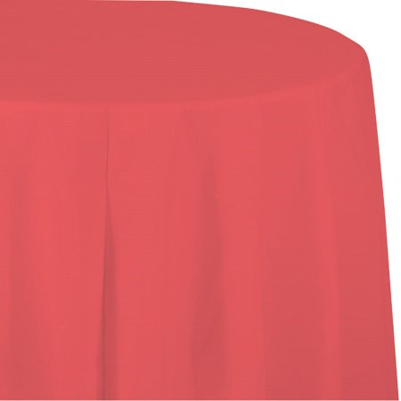 Club Pack of 12 Strawberry Pink Decorative Paper-Lined Octy Round Tablecloth 82