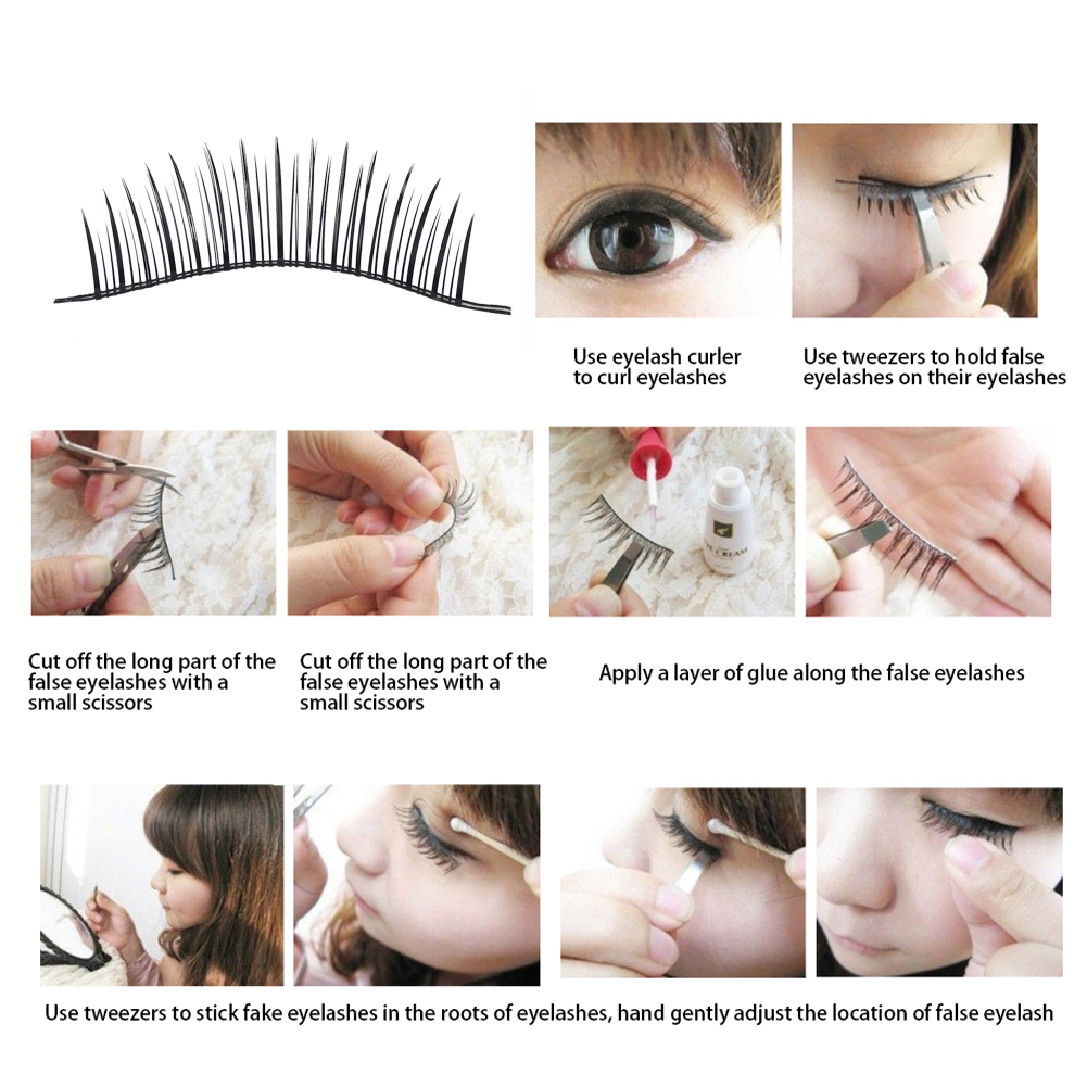 Vbestlife Fake Eyelash Extension20pcs Natural Beauty False